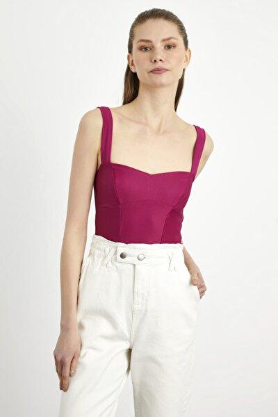 adL Kadın Kalın Askılı Crop Bluz