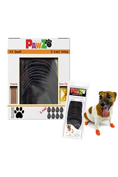 Pawz Su Geçirmez Siyah Köpek Galoşu, Köpek Ayakkabısı Xxs-3,8 Cm-8 Adet