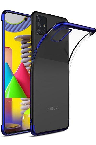 Samsung Galaxy M31s Kılıf Lazer Boyalı Renkli Esnek Silikon Şeffaf