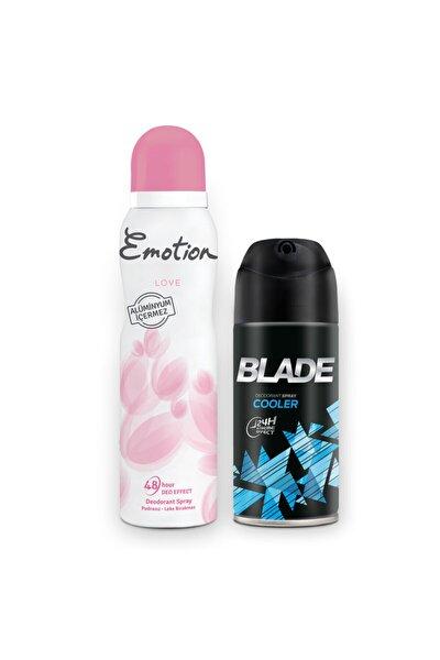 Emotion Love Kadın Deodorant Ve Blade Cooler Erkek Deodorant 2x150ml