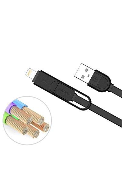 Remax Rc-033t 2ın1 Micro Usb Ve Lightning Şarj Data Kablosu