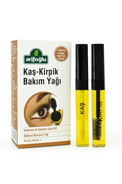 Arifoğlu Kaş Kirpik Bakım Yağı 10+10 ml Doğal E Vitaminli Organik Argan Yağlı