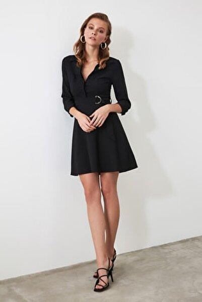 Siyah Kemerli Elbise TWOAW20EL0223