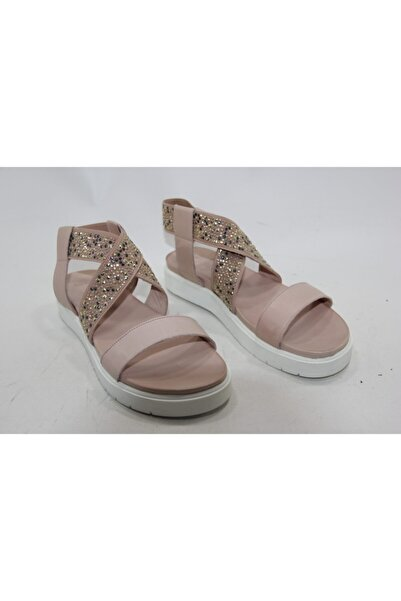 İnci Kadın Pudra Hakiki Deri Sandalet Ayakkabı