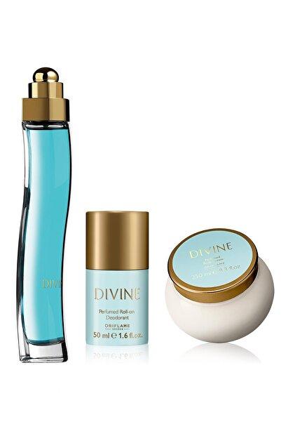 Oriflame Divine Edt + Vücut Kremi + Roll-on Deodorant Set