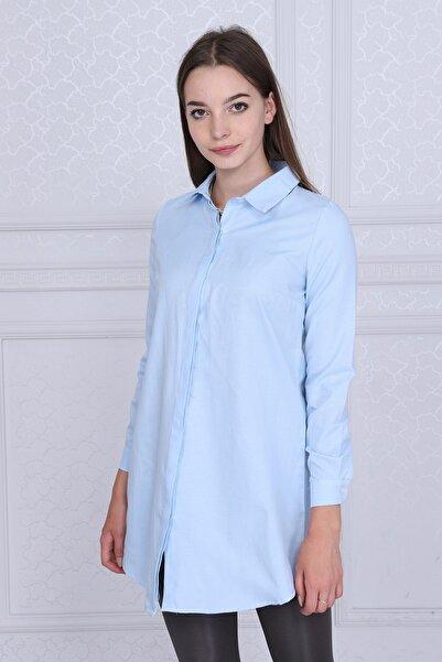 9072734 Şamre Uzun Kollu Gömlek Mavı