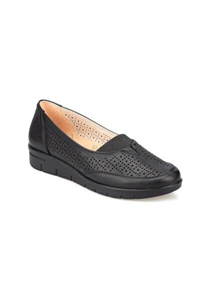 Polaris 5 Nokta POLARİS Ortopedik Taban Günlük Anne Ayakkabısı Yumusak Suni DEri Hafif Dolgu Topuklu Anne Ayakkabısı