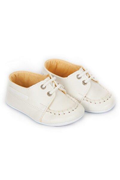 Papulin Unisex Bebek Beyaz  Patik Ayakkabı