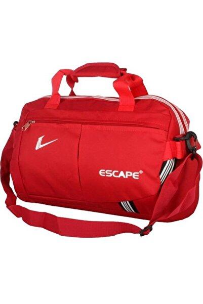 ESCAPE 112 Yeni Sezon Büyük Boy Spor Seyahat Çantası Kırmızı