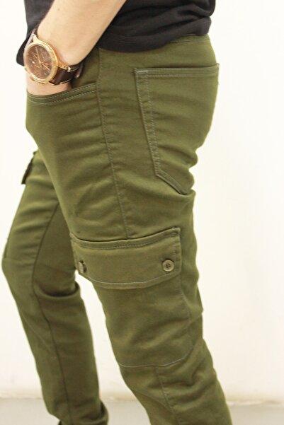Twister Jeans Erkek Haki Gabardin Beli Ve Paçası Lastikli Kargo Pantolon Cold 9138