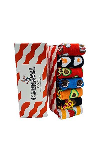 CARNAVAL SOCKS Carnaval Desenli Renkli Tasarım Çorap Seti