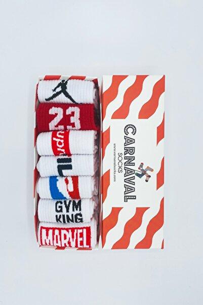 CARNAVAL SOCKS Spor-2 Desenli Renkli Tasarım Çorap Seti