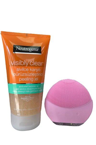 Neutrogena Visibly Clear Sivilce Karşıtı Peeling Jel + Forever Cilt Temizleme Ve Masaj Aleti