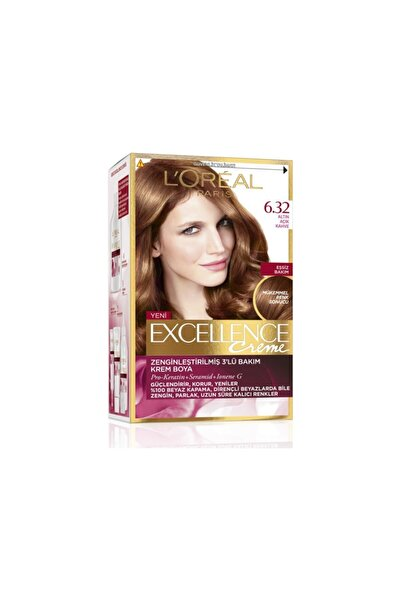 L'Oreal Paris Saç Boyası - Excellence Creme 6.32 Altın Açık Kahve
