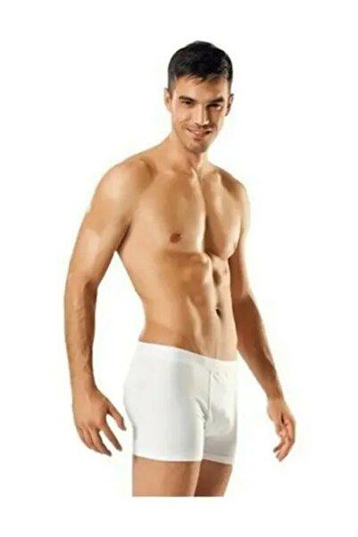 Tutku Erkek Beyaz Likralı Elastan Boxer Renk 5'li Paket