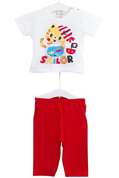 Aziz Bebe Kız Çocuk Baskılı Kısa Kollu Pijama Takımı AZZ009421