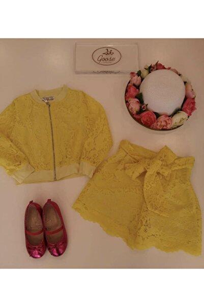 GOOSE Kız Çocuk Sarı Danteli Şort G19y40323