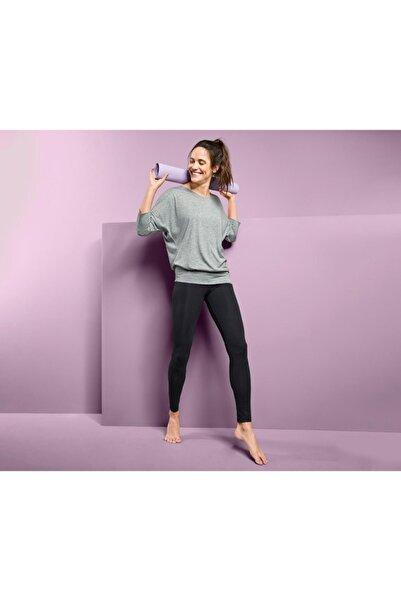 Tchibo Kadın Gri Spor Ve Yoga Tişörtü