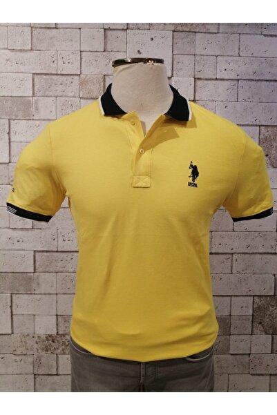 Erkek Sarı Polo Yaka T-shırt