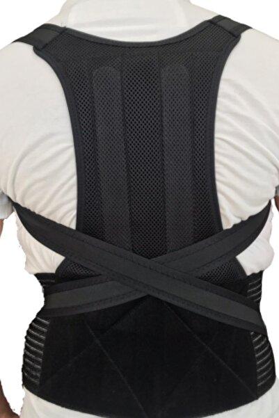 İNCİR Unisex Siyah Dik Duruş Durma Ortopedik Bel ve Sırt Destek Korsesi