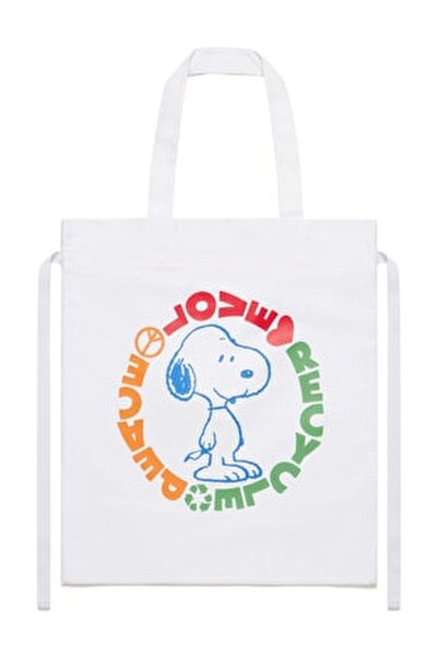 Snoopy Baskılı Bez Çanta