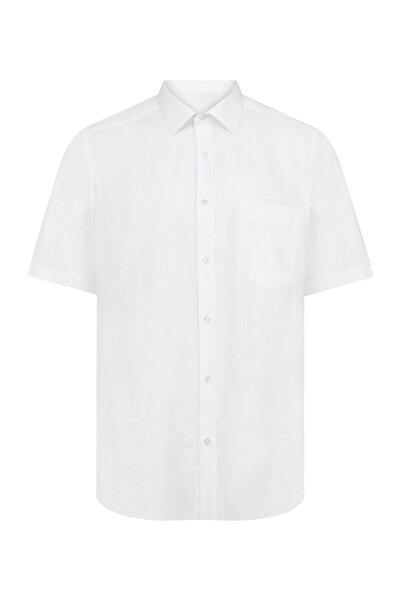 Hatemoğlu Erkek Beyaz Kısa Kol Gömlek