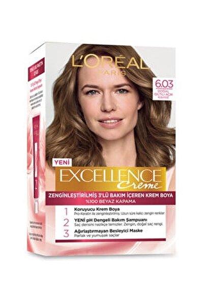 Saç Boyası - Excellence Creme 6.03 Doğal Işıltılı Açık Kahve 3600522258735