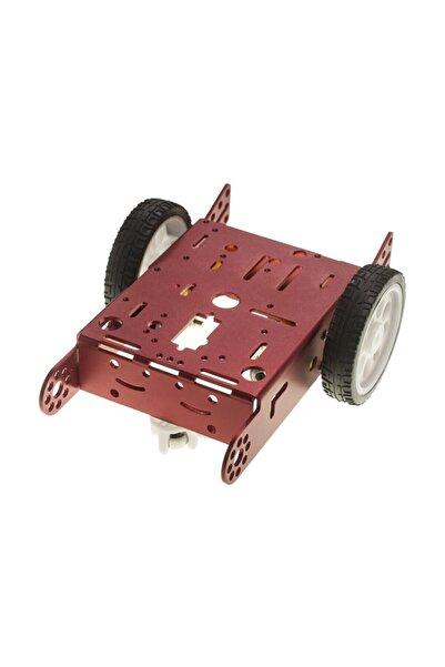 Motorobit 2wd Mbot Alüminyum Araç Kiti - Kırmızı (motor Ve Tekerlek Dahil)