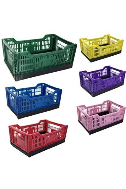 Leva House Katlanır Kasa Plastik 30*40*14 Cm Karışık Renk