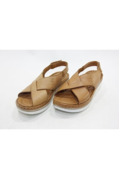 İnci Bayan Kahve 37 Numara Hakiki Deri Sandalet Ayakkabı