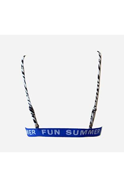 Zebra Desen Summer Fun Lastikli Kaplı Üçgen Bıkını Üstü