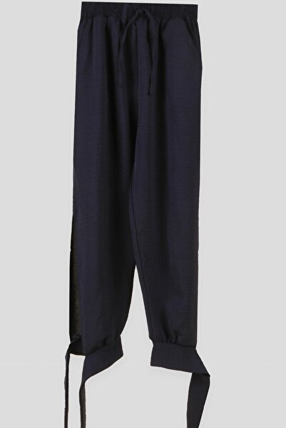 Breeze Kız Çocuk Siyah Paçaları Bağcıklı Pantolon