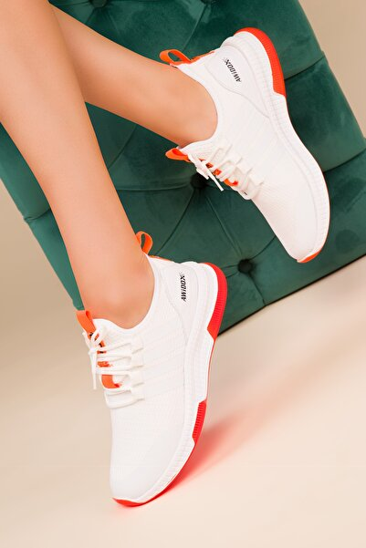 SOHO Beyaz-Turuncu Kadın Sneaker 15195