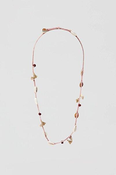 Pull & Bear Kadın Altın Rengi Deniz Kabuklu Ve Püsküllü Bileklik 05992309