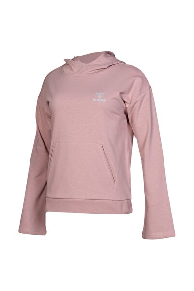 HUMMEL Kadın Pembe Kapüşonlu Sweatshirt