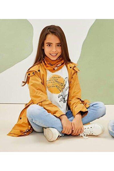 Kız Çocuk Sarı Lilyum Trençkot