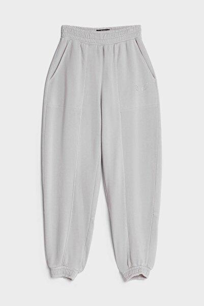Bershka Kadın Gri Reflektör Jogging Fit Pantolon