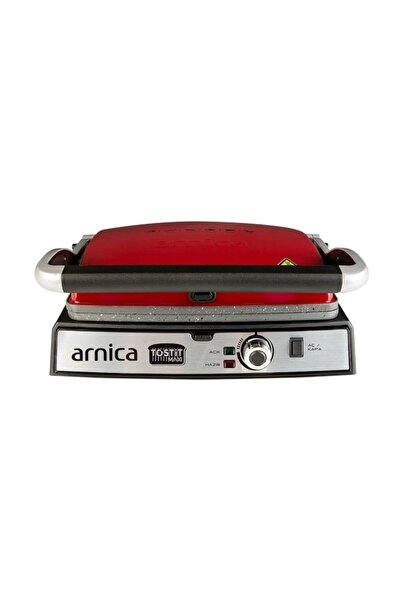 Arnica Arnıca Tostit Maxi Granit Kırmızı Izgaralı Tost Makinesi