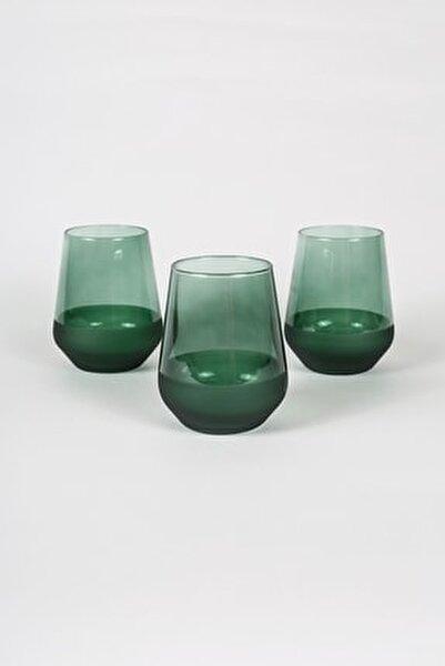 Matte 3'lü Su Bardağı Seti Yeşil 425 cc
