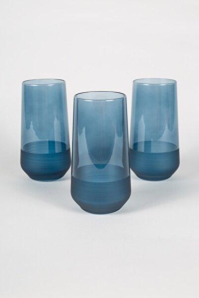 Rakle Matte 3'lü Meşrubat Bardağı Seti Mavi 470 cc
