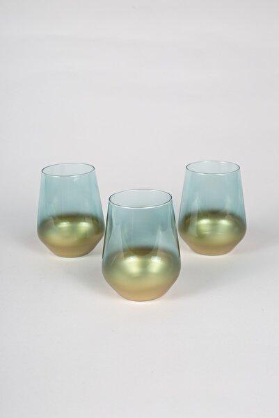 Rakle Glow 3'lü Su Bardağı Seti Yeşil 425 cc