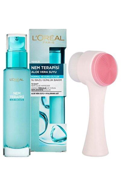 L'Oreal Paris Nem Terapisi Aloe Vera Suyu Normalden Kuruya Ciltler Ve Fluweel Cilt Yüz Temizleme Fırçası