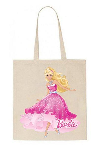 ABC Barbie -10 Baskılı 35x45 Keten Çanta