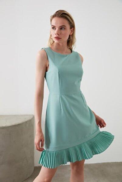 Mint Pilise Detaylı Elbise TOFAW19AA0172