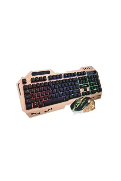 Concord C-58 Usb Aydınlatmalı Metal Kasa Q Gaming Mouse Klavye Set
