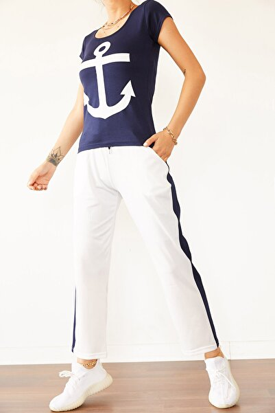 XENA Kadın Lacivert & Beyaz İkili Takım 0YZK8-10446