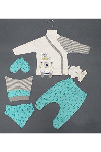 İmaj Erkek Bebek 5li Zıbın Takım, Ayıcık Baskılı 5li Set, Bebe