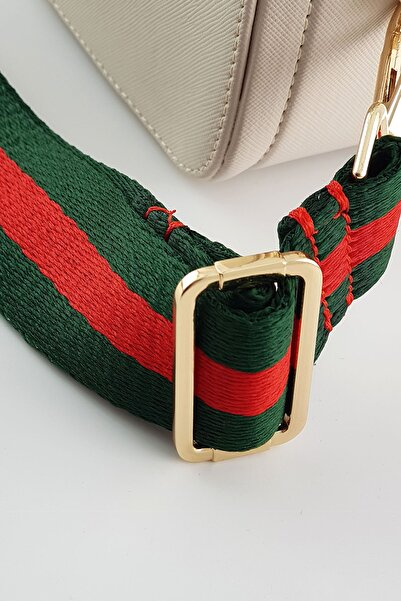 FAEN Yeşil Kırmızı Şerit Çanta & Cep Telefonu Askısı