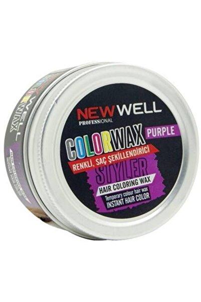 New Well - Color Wax Renkli Saç Şekillendirici - Mor