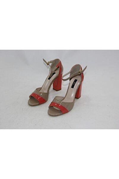 İnci Kadın Kahve Hakiki Deri Topuklu Ayakkabı